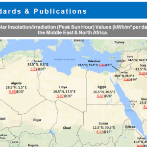 Solar Insolation Map & Tables, Middle East & North Africa v1.0